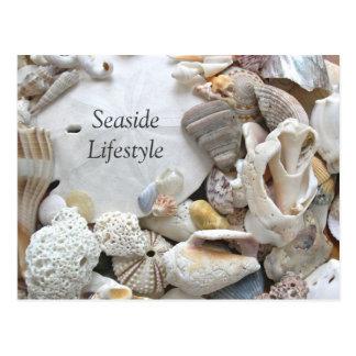 Cartão Postal Endereço novo do estilo de vida do beira-mar do