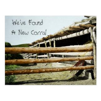 Cartão Postal Endereço novo do estilo ocidental