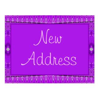 Cartão Postal endereço novo roxo