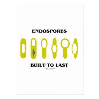 Cartão Postal Endospores construiu ao último (a atitude
