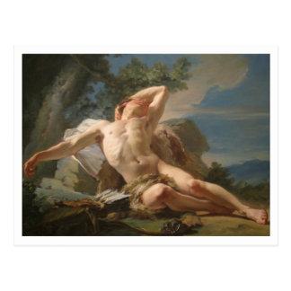 Cartão Postal Endymion de sono por Nicolas Brenet