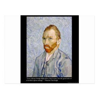 """Cartão Postal Energia de Van Gogh do """"presente do T do &Quote"""