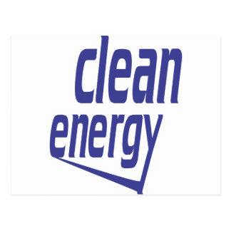 Cartão Postal Energia limpa