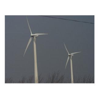 Cartão Postal Energias eólicas em Minnesota e em South Dakota