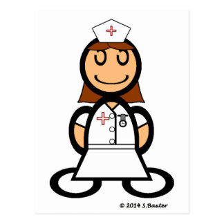 Cartão Postal Enfermeira (lisa)