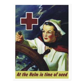 Cartão Postal Enfermeira no leme