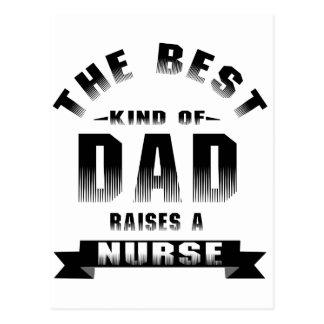 Cartão Postal Enfermeira, o melhor tipo do pai