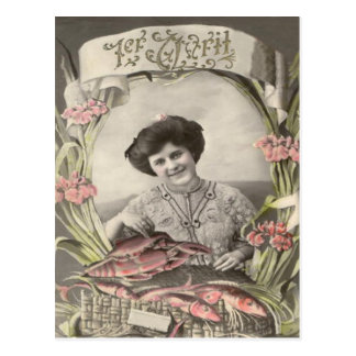 Cartão Postal Enganado do d'avril de Poisson dos peixes da