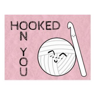 Cartão Postal Enganchado você em artesanatos do Crochet & do fio