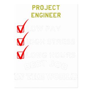 Cartão Postal engenheiro do projeto