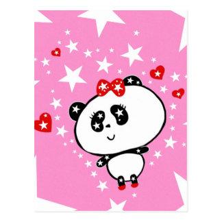 Cartão Postal Engraçado bonito dos ursos de panda personalizado