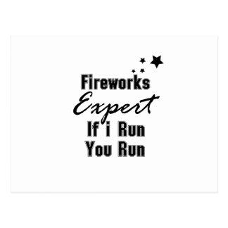 Cartão Postal Engraçado perito dos fogos-de-artifício 4o julho