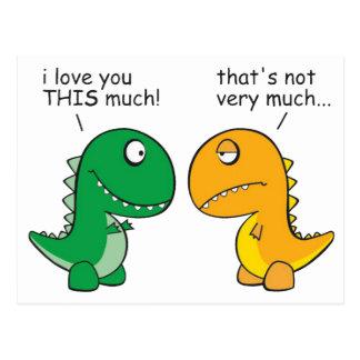 Cartão Postal engraçado-T-Rex-pequeno-braço-desenhos animados