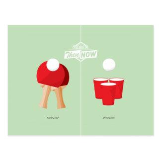 Cartão Postal Então e agora: Sibilo Pong
