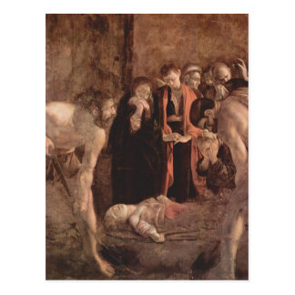 Cartão Postal Enterro de Caravaggio- do santo Lucy