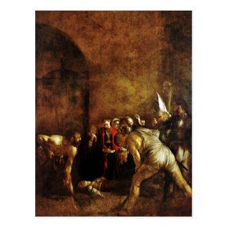Cartão Postal Enterro do santo Lucy por Caravaggio (1608)