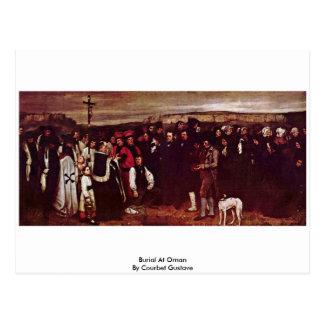 Cartão Postal Enterro em Ornan por Courbet Gustave