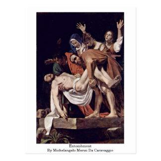 Cartão Postal Entombment por Michelangelo Merisi a Dinamarca