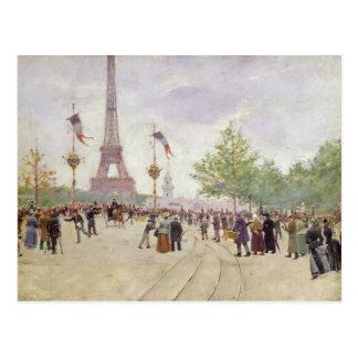 Cartão Postal Entrada à exposição Universelle, 1889