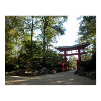 Cartão Postal Entrada aos jardins japoneses