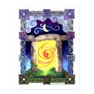 Cartão Postal Entrada celta