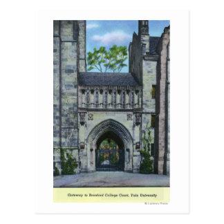Cartão Postal Entrada da Universidade de Yale