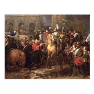 Cartão Postal Entrada de Henri IV em Paris, o 22 de março de