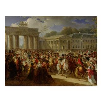 Cartão Postal Entrada de Napoleon mim em Berlim