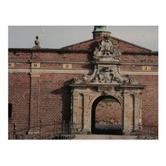 Cartão Postal Entrada do castelo de Kronborg