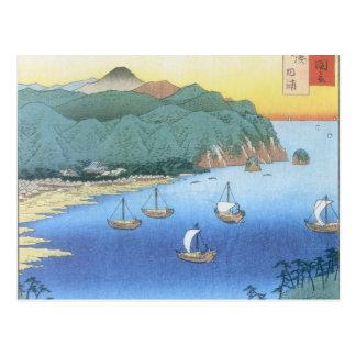 Cartão Postal Entrada na província de Awa por Ando Hiroshige