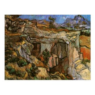 Cartão Postal Entrada, pedreira perto do Santo-Rémy, Vincent van