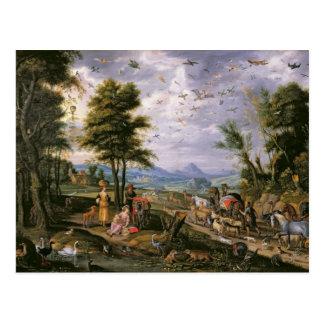 Cartão Postal Entrando na arca