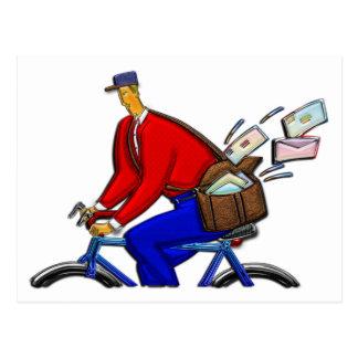 Cartão Postal Entrega especial do mensageiro da bicicleta AKA