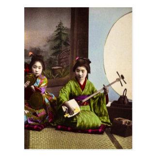 Cartão Postal Entretenimento japonês do Musical da gueixa do
