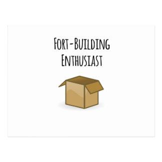 Cartão Postal Entusiasta da Forte-Construção