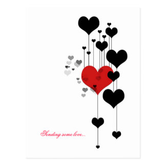Cartão Postal Enviando algum amor…