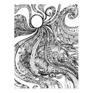 Cartão Postal Envie-me sonhos do pavão