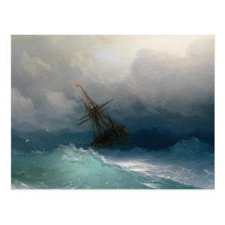 Cartão Postal Envie na tempestade tormentoso do seascape de Ivan