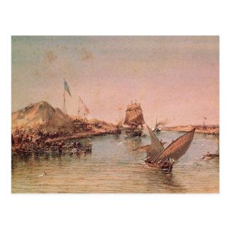 Cartão Postal Envio no canal de Suez