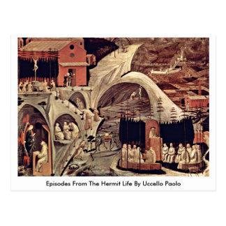 Cartão Postal Episódios da vida do eremita por Uccello Paolo