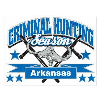 Cartão Postal Época de caça do criminoso de Arkansas