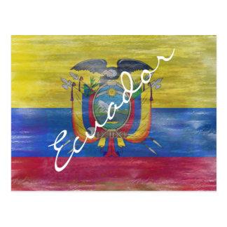 Cartão Postal Equador afligiu a bandeira