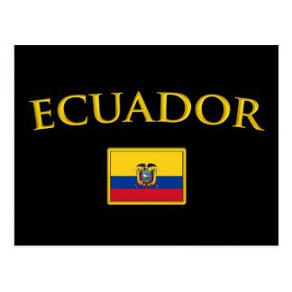 Cartão Postal Equador dourado