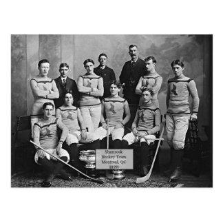 Cartão Postal Equipa de hóquei do trevo, Montreal, ` do QC 1899