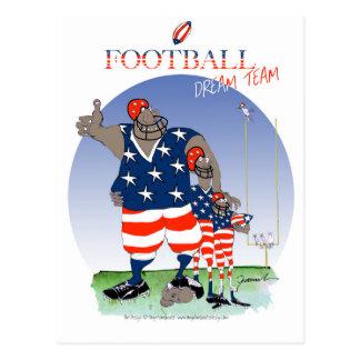 Cartão Postal Equipa ideal dos EUA, fernandes tony