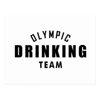Cartão Postal Equipe olímpica do bebendo