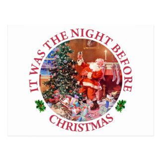 Cartão Postal Era a noite antes do Natal