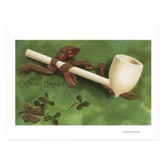 Cartão Postal Erin vai Bragh, tubulação do marfim