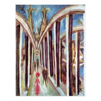 Cartão Postal Ernst Ludwig Kirchner- a ponte de Rhine
