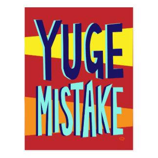 Cartão Postal Erro de Yuge